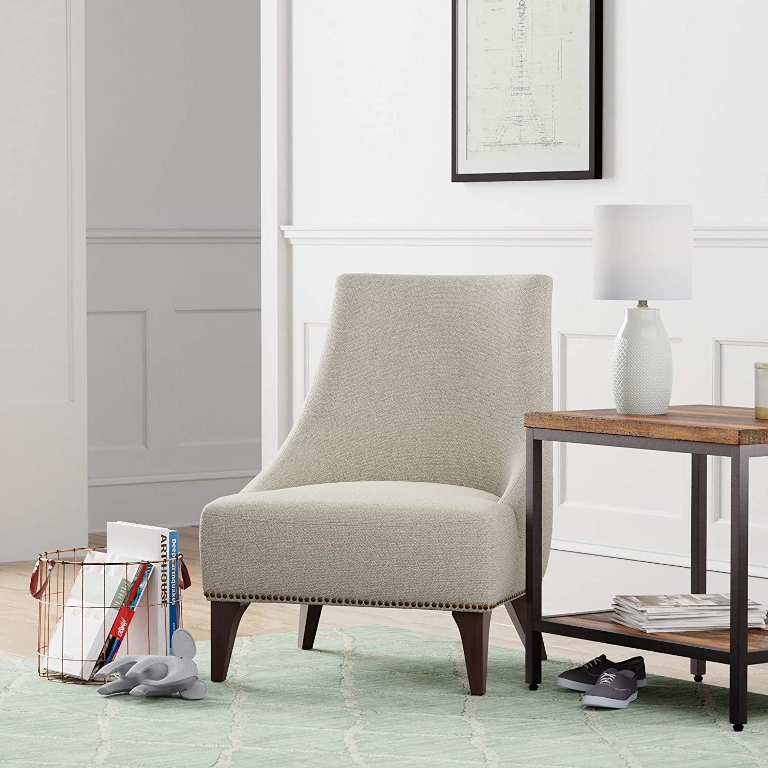 Brand 27.6 W Stone /& Beam Shorebrook Deep Upholstered Accent Chair Grey