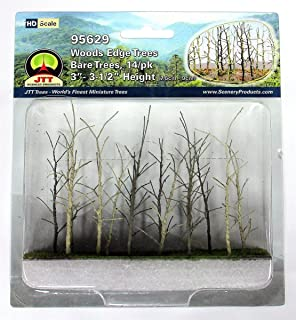 Woods Edge Trees Bare 3'' to 3.5'' HO-scale 14/pk