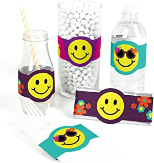 60's Hippie - DIY Party Supplies - 1960s Groovy Party DIY Wrapper Favors & Decorations - Set of 15