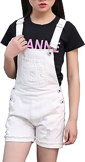Sitmptol Big Girls Kids Denim Overalls Cute Jumpsuits Casual Bib Boyfriend Romper 1 Piece