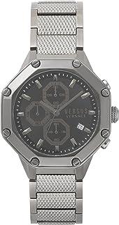 Versus by Versace de los hombres 'Kowloon' acero inoxidable de cuarzo reloj Casual, color: gris (modelo: vsp390217)