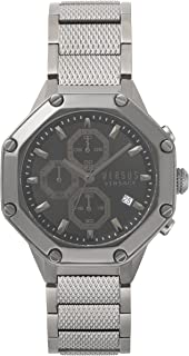 Versus by Versace Men's 'Kowloon' Quartz Stainless Steel Casual Watch, Color:Grey (Model: VSP390217)