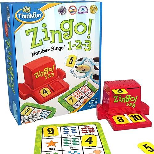 ThinkFun Zingo! 1-2-3 Game,Junior Games