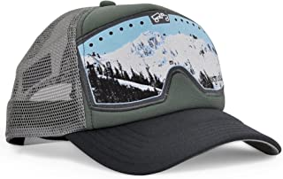 bigtruck Green Original Trucker Hat, Grey/Olive, One Size