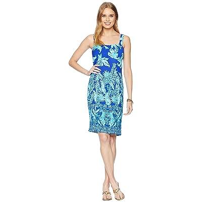Lilly Pulitzer Annalee Stretch Dress (Royal Purple Jungle Path Engineered) Women