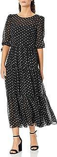 Eliza J Women's Long Sleeve Polka Dot Maxi Dress