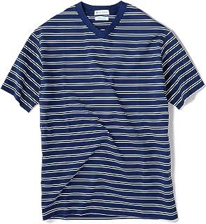 [シップスジェットブルー] Tシャツ 半袖 ボーダー Vネック メンズ 122100155