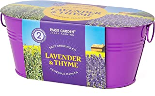 Paris Garden - Mini Zinc Collection Colour Oval Pots Duo Collection 2 Seeds Varieties - Red