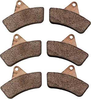 Race Driven OEM Replacement Front & Rear Brake Pads for Arctic Cat 250 300 375 400 500 Bear Cat 454 2X4 4X4