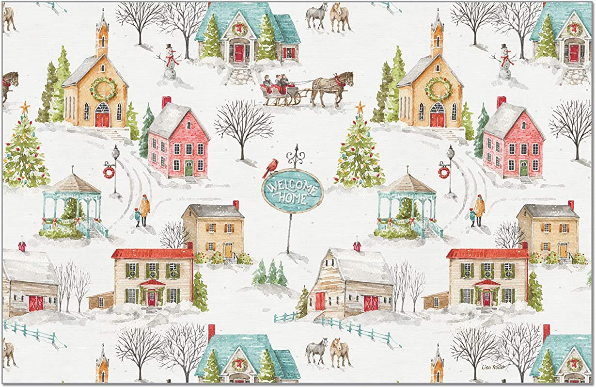Highland Home CounterArt 24 Pack Disposable Paper Placemat Our Christmas Story