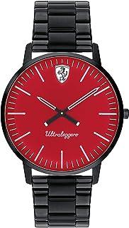 Ferrari Mens Quartz Watch, Analog Display and Stainless Steel Strap 830564