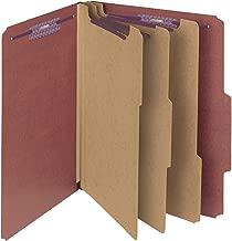 Smead Pressboard Classification File Folder with SafeSHIELD Fasteners, 3 Dividers, 3