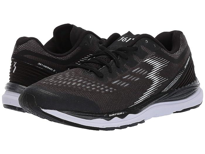 361 Degrees  Meraki 2 (Black/White) Womens Shoes