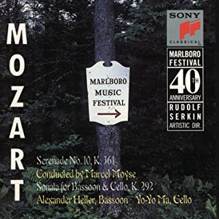 Marlboro Music Festival-40th Anniversary: Mozart: Serenade No. 10 in B-Flat Major, K. 361; Sonata in B-Flat Major for Bassoon and Cello K. 292