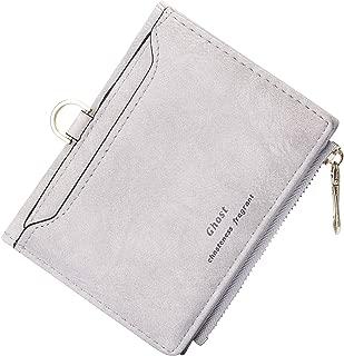 TJEtrade Small Wallets for Women Bifold Slim Coin Purse Zipper ID Card Holder