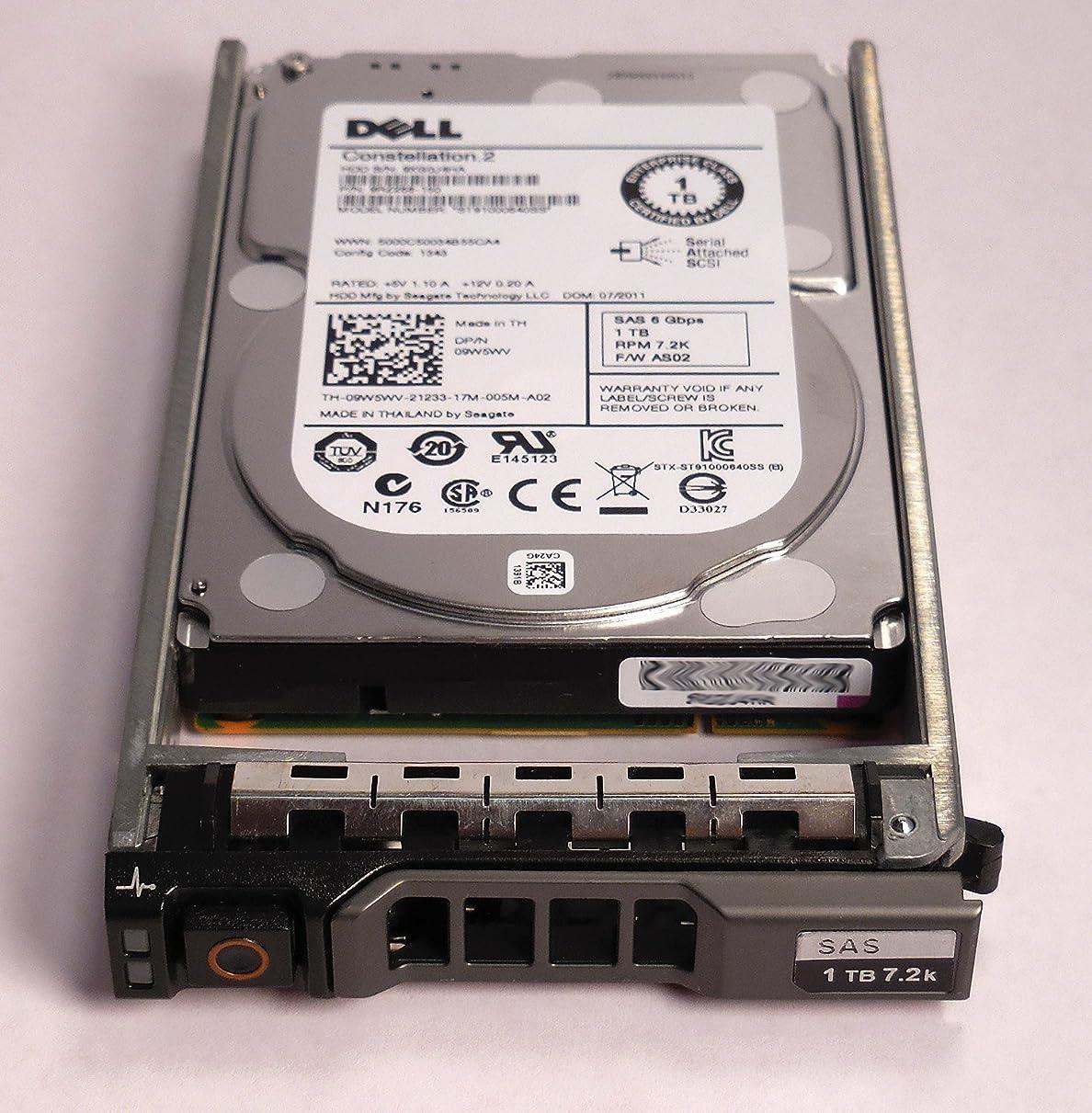 気づくバンフラグラントDell 1TB 7.2K 6Gb/s 2.5インチ SAS HD -Mfg # 342-2006 (ドライブとトレイ付き) (認定整備済み)