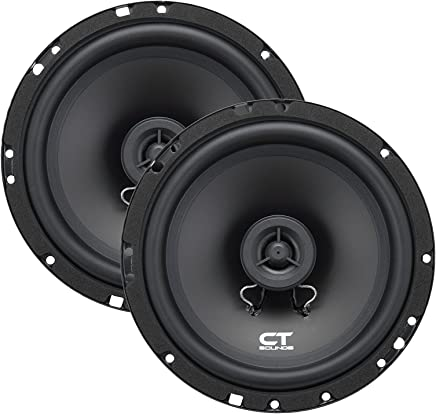 $35 Get CT Sounds Bio 6.5-Inch 2-Way Silk Dome Coaxial Car Speakers (Pair)