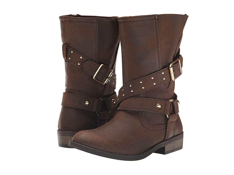 Jessica Simpson Kids Callie (Little Kid/Big Kid) (Brown Burnished) Girls Shoes