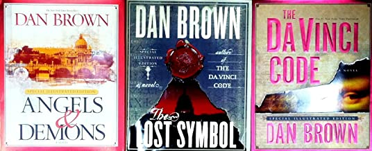 Dan Brown Three Book Set (Angels & Demons Special Illustrated Edition - The Lost Symbol Special Illustrated Edition - The DaVinci Code Special Illustrated Edition)