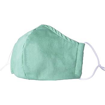 YMK Unisex Cotton Mask Adjustable Anti Dust Fashion Face Mask Washable Reusable Muffle Cloth Basic Big Masks Green M