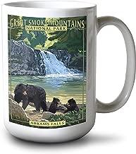Lantern Press Great Smoky Mountains National Park, Tennesseee - Abrams Falls (15oz White Ceramic Mug)