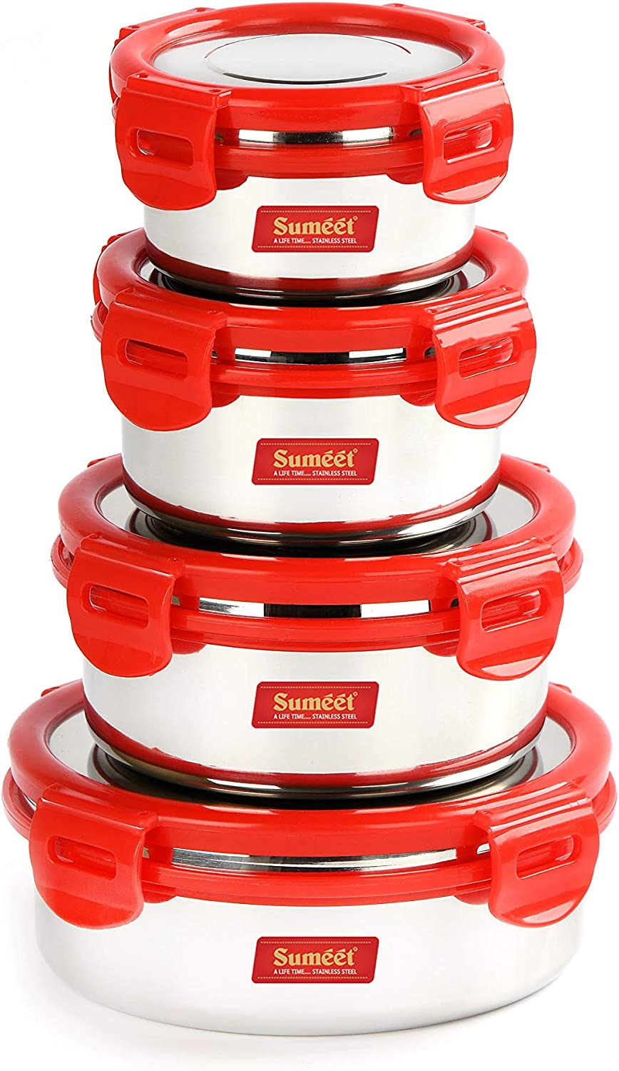 Sumeet Airtight Leak Proof Steelexo Max 48% OFF S.S. Direct sale of manufacturer Box Lunch w Container