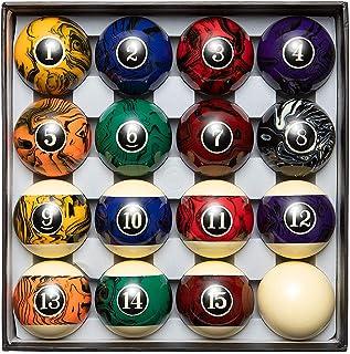 Blackfox Pool Balls, Marble Style, Billiard Balls Regulation Size, with 16 Balls, Balanced Pool Table Balls - Professional...