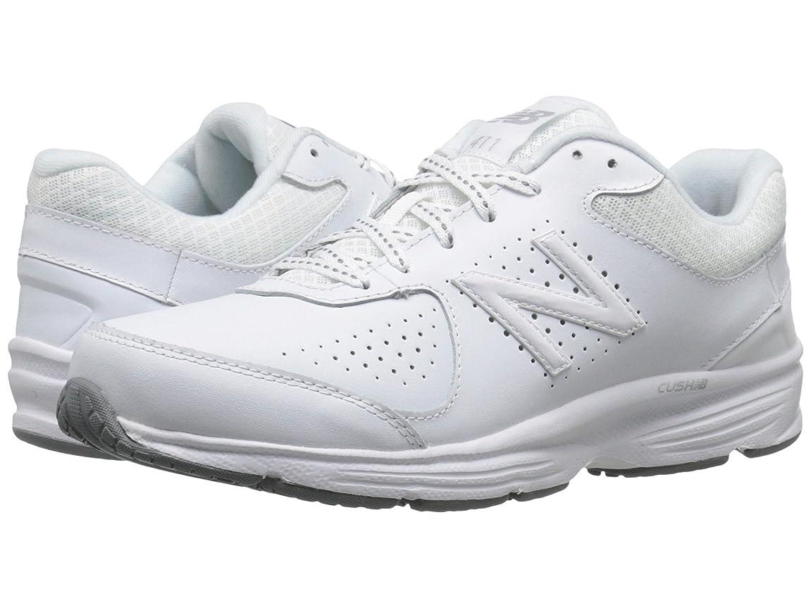 メダル寸法光の[new balance(ニューバランス)] レディースウォーキングシューズ?靴 WW411v2 White 7.5 (24.5cm) 2A - Narrow [並行輸入品]
