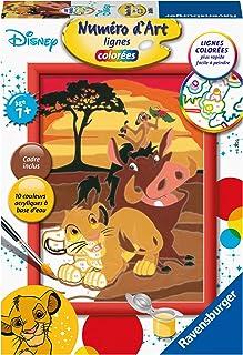 Ravensburger – Numéro d'art – petit format– Disney Le Roi Lion – loisir créatif – peinture – enfant dès 7 ans – 28676