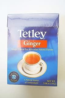 Tetley Ginger Tea - New! (72 Tea Bags)