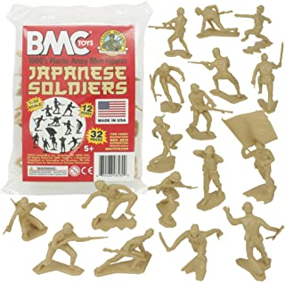 BMC Classic Marx Japanese Plastic Army Men - Tan 32pc WW2 Soldier Figures