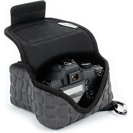 USA GEAR FlexARMOR X DSLR SLR Camera Case Sleeve with Deluxe Padded Neoprene Protection, Carabiner Clip and Accessory Storage - Compatible with Nikon D3400, Canon EOS Rebel SL2, Pentax K-70 and More