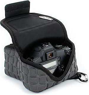 Funda de Cámara Digital | Estuche Semipermeable para Cámara Reflex por USA Gear | Bolsa Protectora DSLR para Nikon D3300 D750 D5300 D5500 Canon EOS 1300D 100D 700D 750D Pentax K50 Accesorios y más