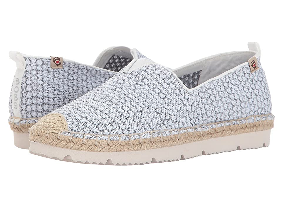 BOBS from SKECHERS Flexpadrille2 Vacationers (White Gray) Women