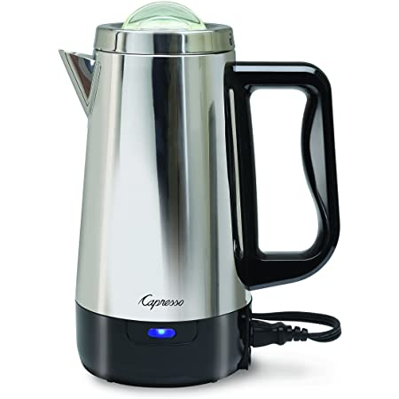 Capresso Perk, 8 Cup Coffee Maker, Metallic
