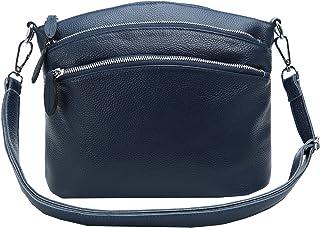 Heshe Womens Leather Handbags Shoulder Bag Small Bags Designer Handbag Crossbody Satchel and Purses for Ladies