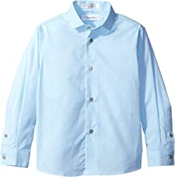 Long Sleeve Diamond Dobby Shirt (Little Kids)