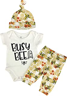 Boys Busy Bee Fall Layette Onesie Cap Pants Outfit