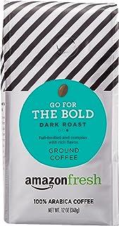 AmazonFresh Go For The Bold Ground Coffee, Dark Roast, 12 Ounce