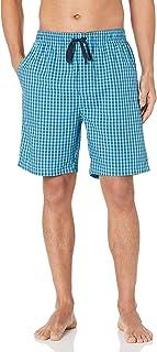 Nautica mens Nautica Men's Soft Woven 100% Cotton Elastic Waistband Sleep Pajama Shorts Pajama Bottom