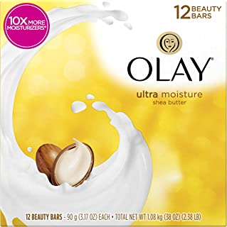 Olay Moisture Outlast Ultra Moisture Beauty Bar با Shea Butter 12 Bar ، 3.17 oz