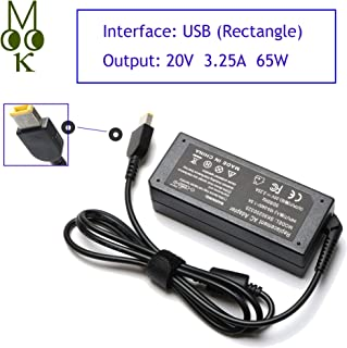 65W 20V 3.25A USB Tip AC Laptop Adapter Charger for Lenovo Thinkpad T470 T440 T460 G50-45 G50-80 G50-70 Z50-70 Z50-75 X250 E440 E450 E550 E560 for IdeaPad Yoga 2 11 13 2 Pro 0A36258 Power Supply Cord