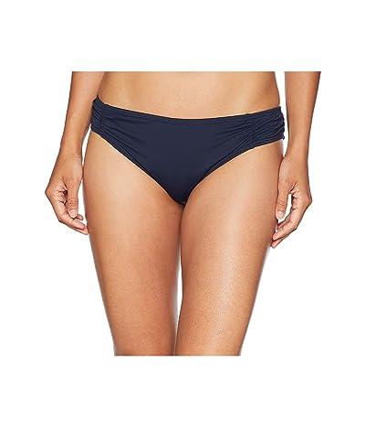 MICHAEL Michael Kors Solids Side Shirred Bikini Bottom (New Navy) Women