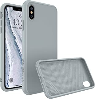 RhinoShield Full Impact Protection Case for [ iPhone X ], SolidSuit Series, Military Grade Drop Protection, Supports Wireless Charging, Slim, Scratch Resistant - Cloud Gray