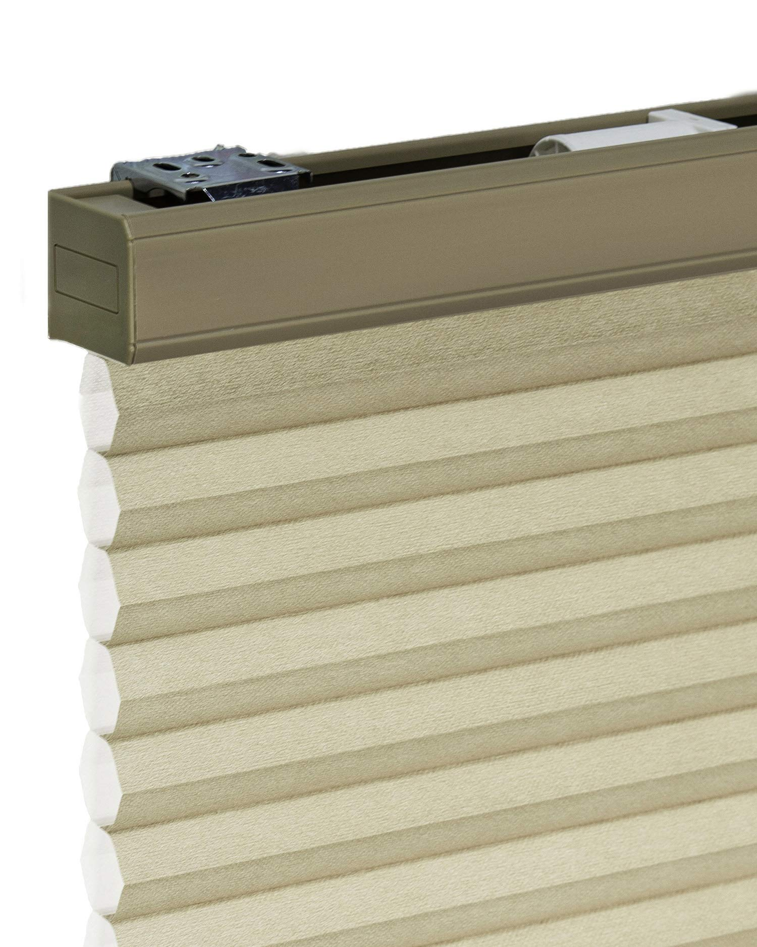 """CHICOLOGY Cordless Cellular Shades Privacy Single Cell Window Blind, 38"""" W X 48"""" H, Morning Croissant"""