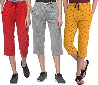 SHAUN Women's Slim Fit Capri (Pack of 3)