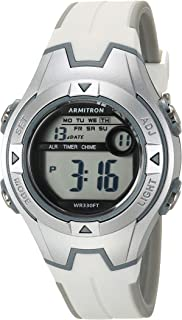 Armitron Sport Women's Digital Chronograph Watch with White Resin Strap, 45/7115GWT