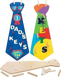 Baker Ross Proyecto de artesanía de llaveros de madera - Ideal para manualidades, regalos, recuerdos y más para niños (paq...