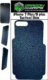 iPhone 8 Plus 7 Plus Rubber Grip Tape Skin Sticker Minimalist case Decal (Black)