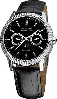 ساعة اوغست ستاينر للرجال سويسرية كوارتز انالوج بعقارب بسوار ألماس